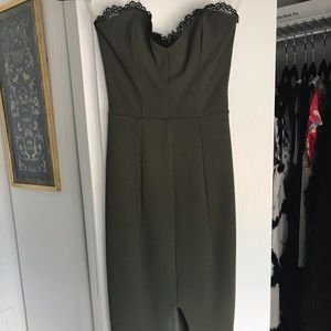 Nookie front-slit, bodycon cocktail dress